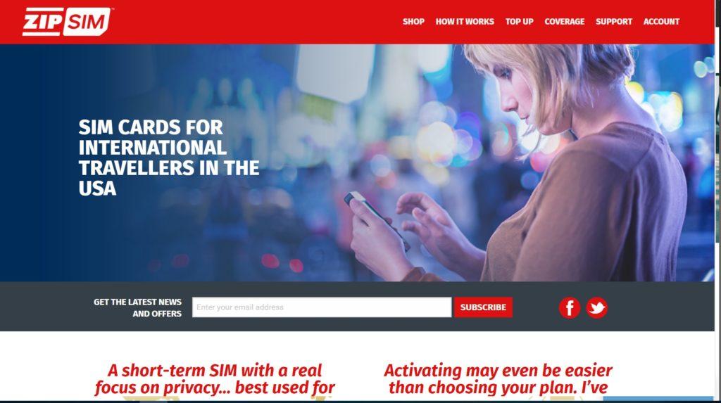 ZIP SIMホームページ