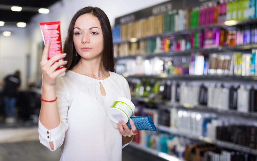 アメリカの化粧品店
