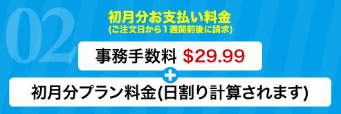 初月分お支払い料金 (ご注文日から1週間前後に請求)