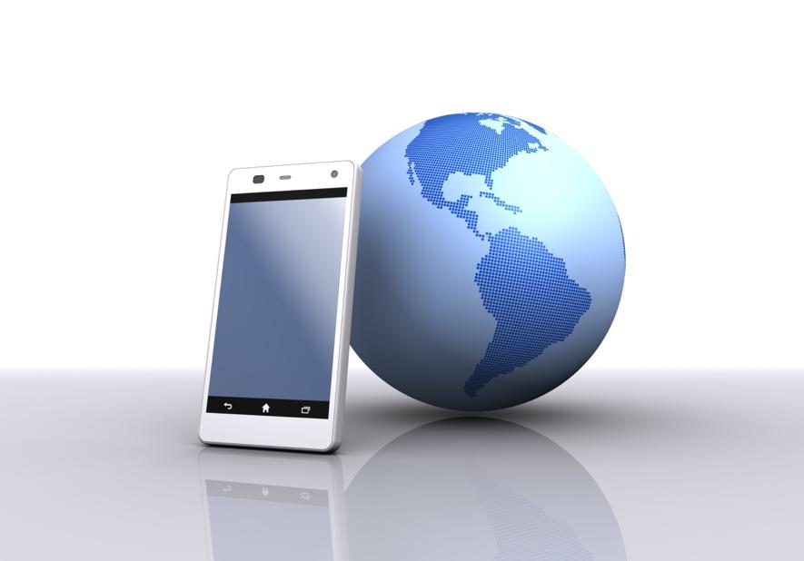 iPhoneと地球儀