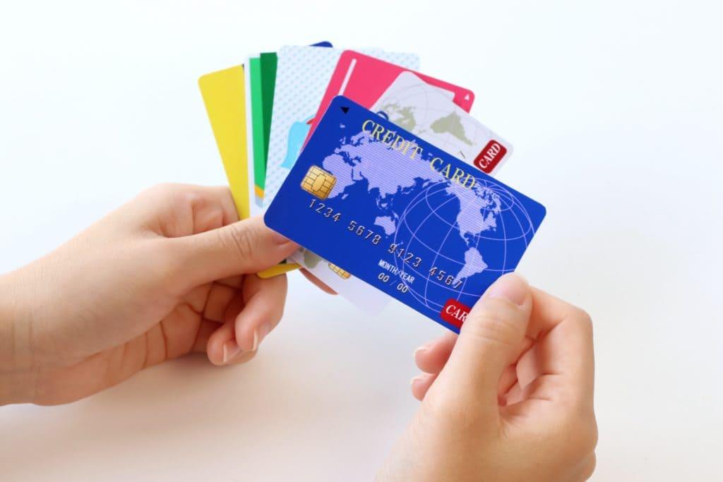 数種類のアメリカのクレジットカード