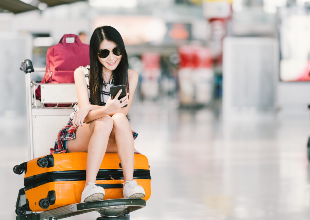 アメリカ留学に行く日本人女性