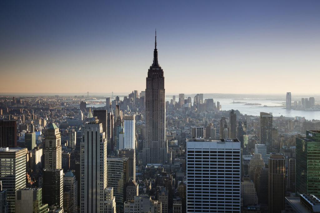アメリカのニューヨークの風景
