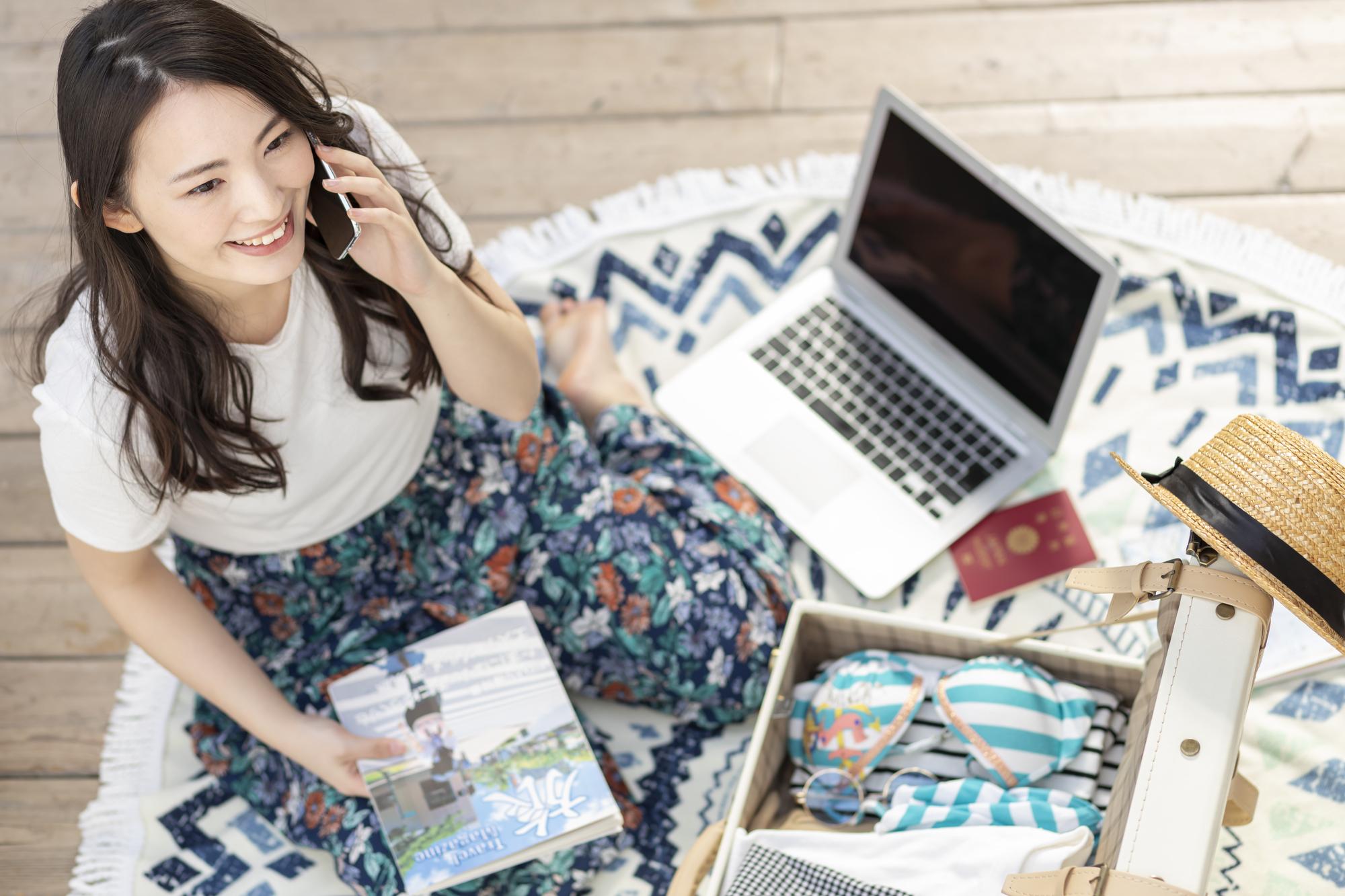 アメリカ留学を準備する日本人女性