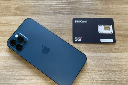 iPhone 12 Proと5G対応ベライゾンSIMカード