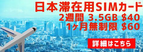 日本滞在用SIMカード